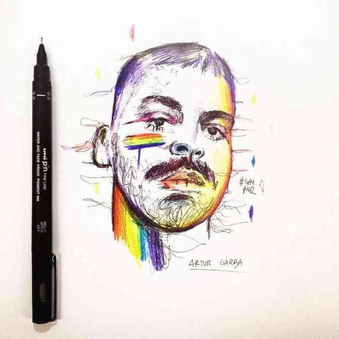 ROMEO Art #2 - Artur Garba - Gay Power sketch drawing
