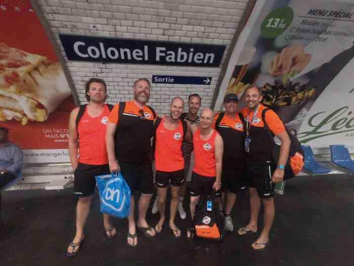 Team Waterproof in metro station Colonel Fabien