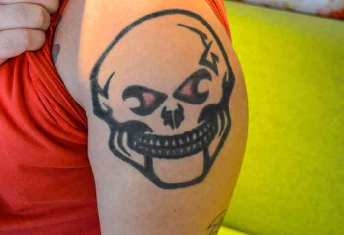 Getting Inked up Skull Tattoo ROMEO PLANETROMEO