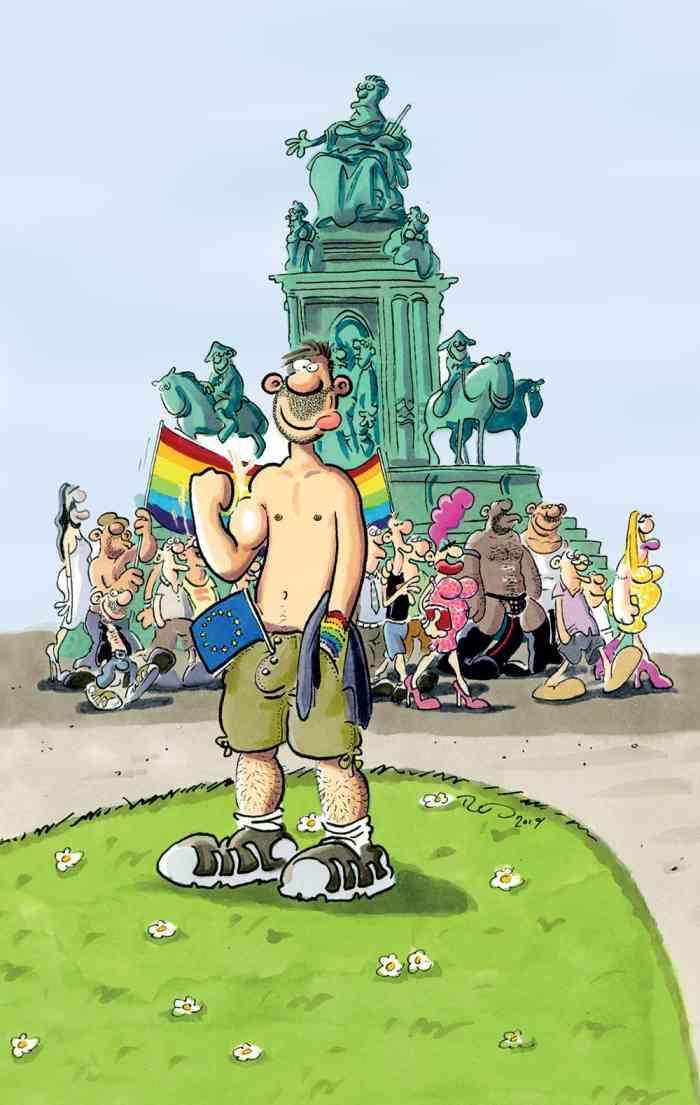 Ralf König at EuroPride 2019 - Vienna